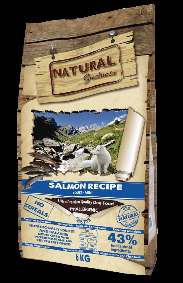 Receta hipoalergénica y monoproteica de salmón
