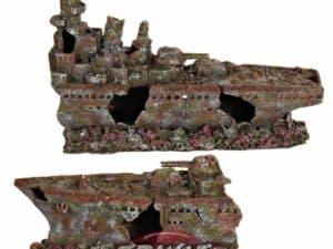 barco decoración acuarios 70cm