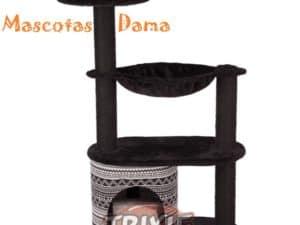 Poste rascador Giada, 112 cm, negro-blanco