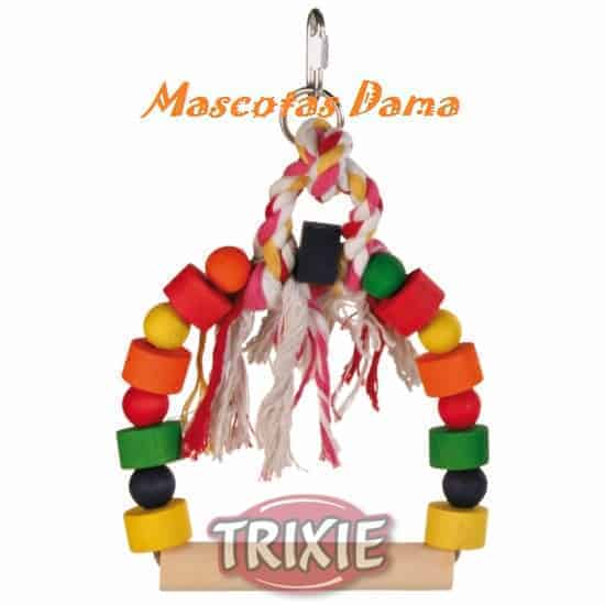 Columpio Arco coloreado Tacos Madera, 13x19 cm