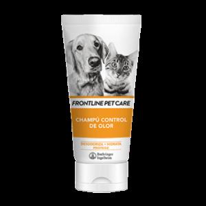 Higiene y cuidado para tu mascota El Champú contra el olor está desarrollado para reducir el olor de la piel. Contiene extractos naturales desodorantes de la Semilla de Moringa y Ramnosa antibacteriana para controlar el olor.
