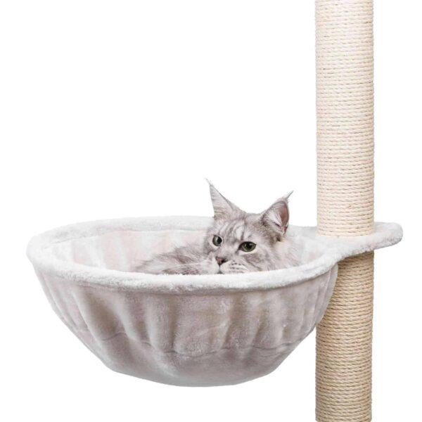 con forro de felpa (poliéster) con marco metálico especialmente adecuado para gatos grandes y pesados puede instalarse en la mayoría de rascadores, en vez de una plataforma color: gris claro