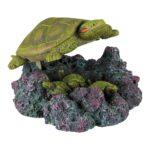 Tortuga con Salida de Aire resina poliéster con conexión para tubo de aire el aire que suelta levanta la tortuga resistente al agua salada