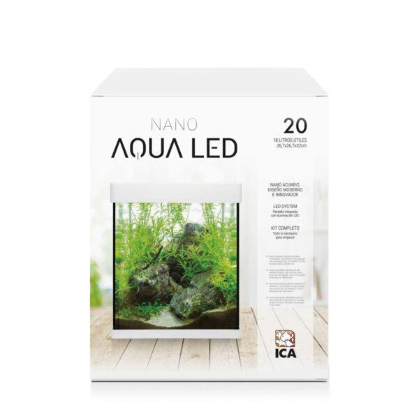 El exclusivo NANO AQUALED Crystal posee un diseño único en el mercado e incorpora LEDs SAMSUNG con el objetivo de trasladar a tu casa la elegancia a la ultima moda. Además, en este kit incorporamos todo lo que necesita para comenzar. KIT BASE incluye*: filtro interior, pantalla integrada, lámpara LED, alimento para peces, acondicionadores y guía del acuario.