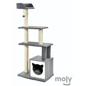 Rascador madera diseño gatitos