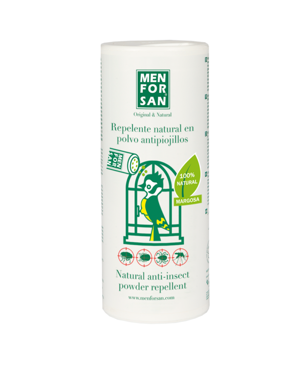 Repelente natural en polvo antipiojillos para pajaros 250gr